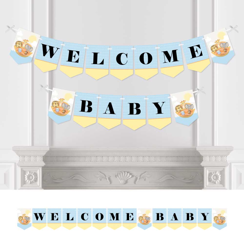 Noah's Ark - Baby Shower Bunting Banner - Animal Party Decorations - Welcome Baby
