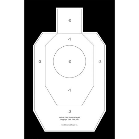 "50 Pcs of Official IDPA Paper Practice Target Size: 23"" x 35""."
