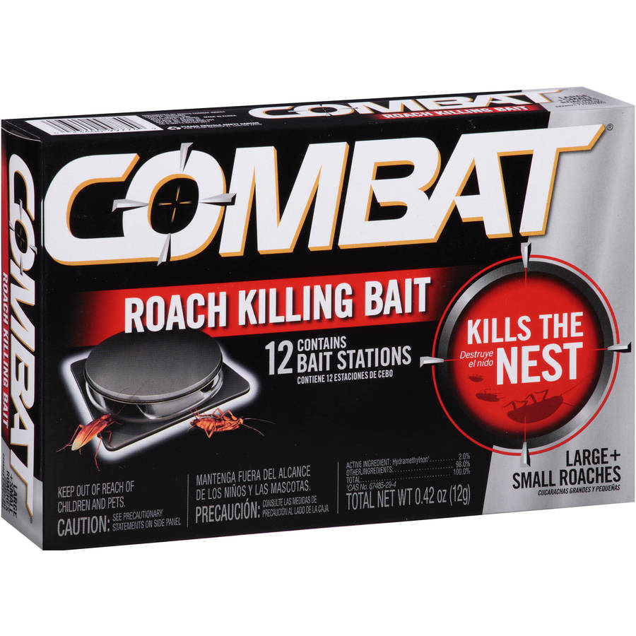 Combat Large   Small Roaches Roach Killing Bait Stations, 12 count
