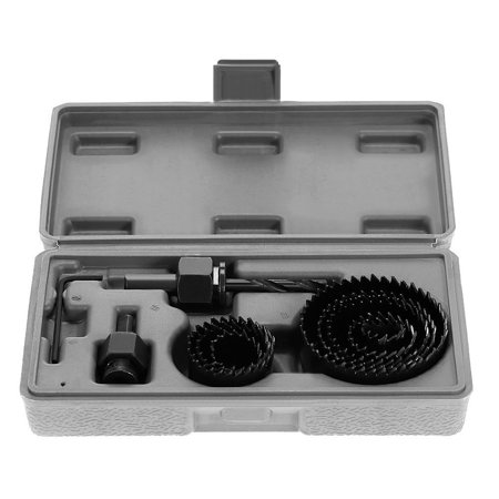 11pcs Hole Saw Kit Cutting Drilling Tools Set Wood Metal Cutter 19-64mm