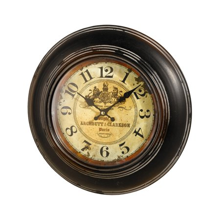 HGC Antique Reproduction Metal and Glass Wall Clock ()