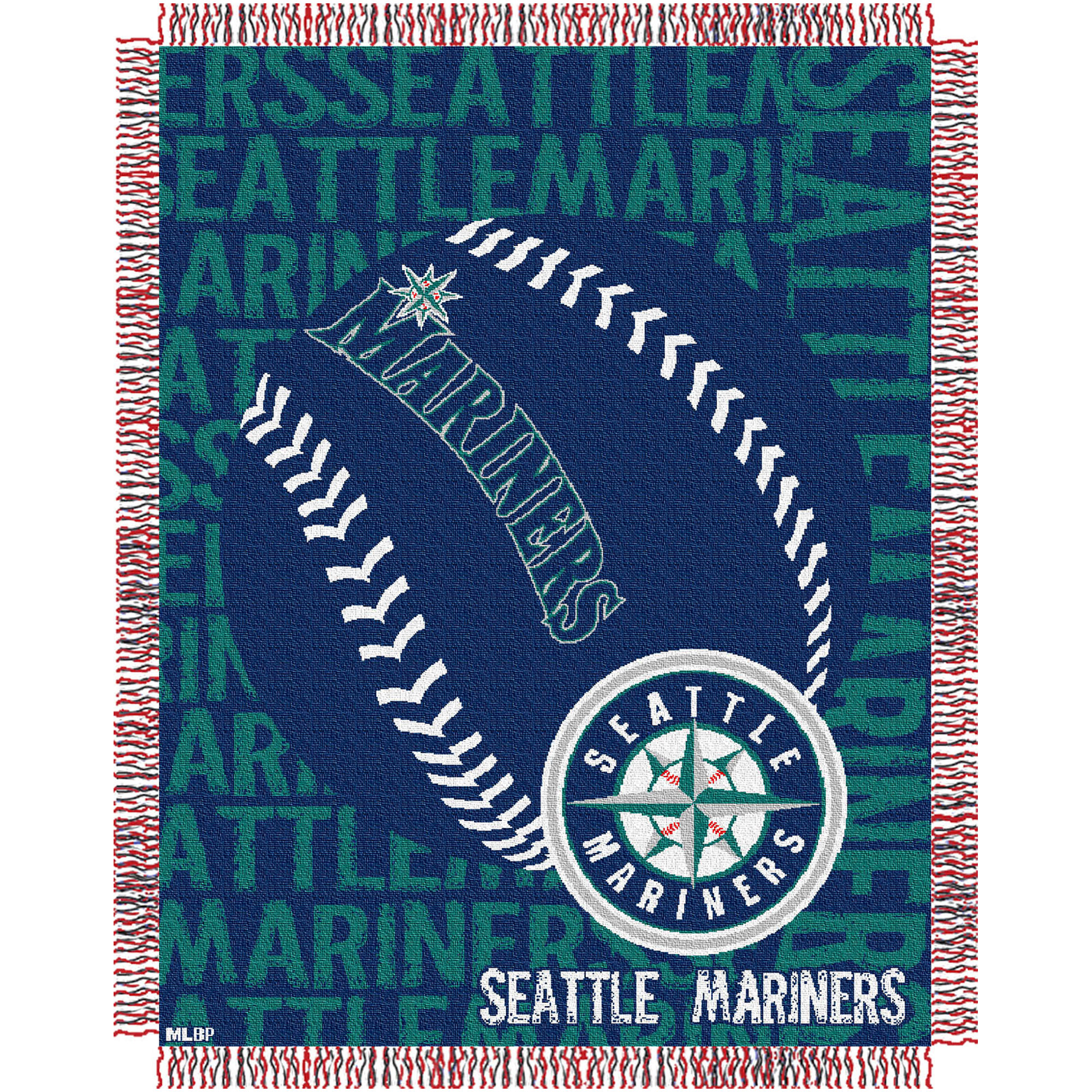 Seattle Mariners The Northwest Company 46'' x 60'' Double Play Jacquard Throw - No Size