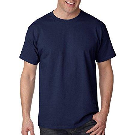 858bc514969c9 Hanes - Hanes mens 6.1 oz. Tagless T-Shirt(5250)-Deep Navy-S - Walmart.com