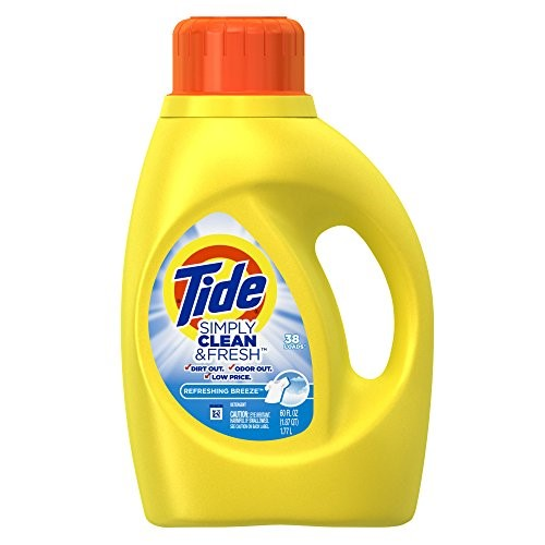 Tide Simply Clean & Fresh He Liquid Laundry Detergent, Refreshing Breeze Scent, 38 Loads 60 Oz