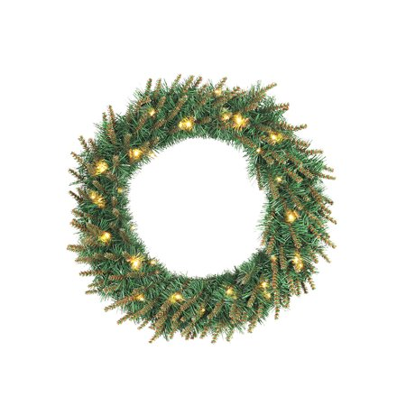 Christmas Green PVC Garland Warm Color Light Decorative Door Hanging Shop Hotel Window Decoration (30cm With Light) (Fireplace Christmas Door Decorations)