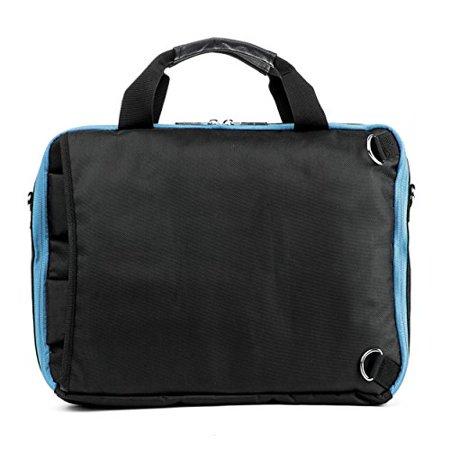 VanGoddy El Prado 3-in-1 Messenger + Backpack + Briefcase Transformer for 15 to 16 inch Laptops and Tablets - Black/Aqua - image 2 of 4