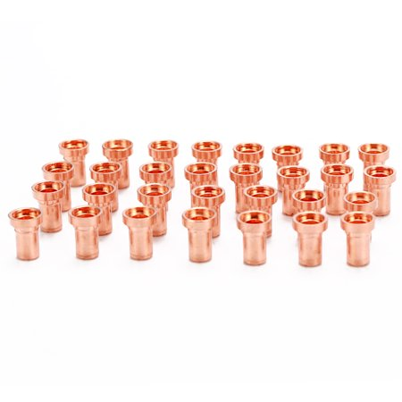 60PCS Red Copper Extended Long Plasma Cutter Electrode Nozzle Kit Consumable For PT31 L-G40 40A Cutting - image 7 of 7