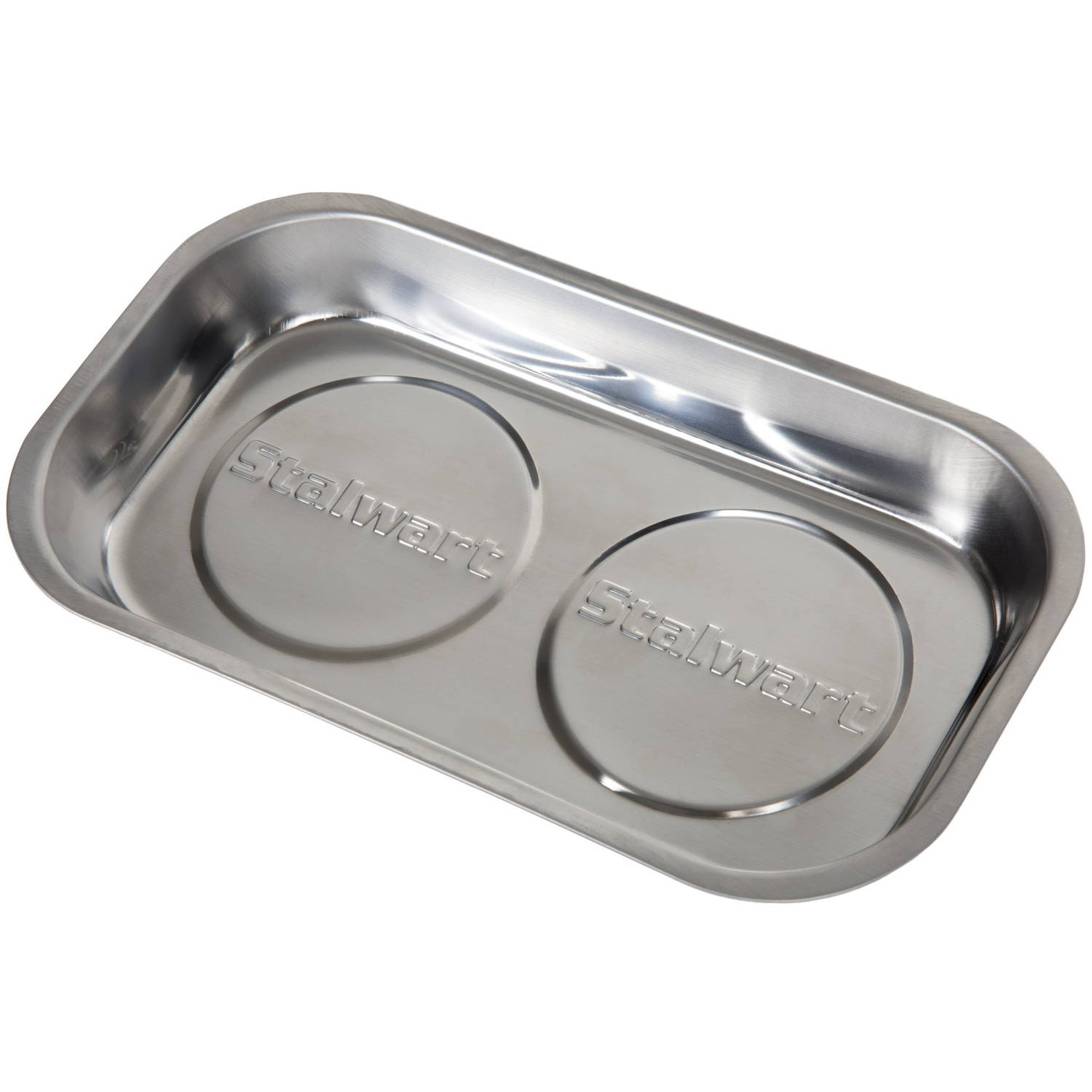 """Stalwart Stainless Steel Rectangular Magnetic Parts Tray, 9"""" x 5"""""""