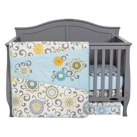Click here for Waverly Pom Pom Spa 4 Piece Crib Bedding Set prices