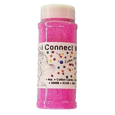 Cotton Candy, Extra Fine Iridescent Glitter 1/128, 4oz Shaker