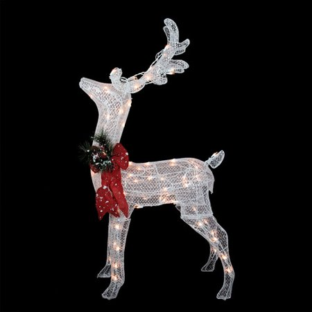 northlight seasonal sparkling reindeer lighted christmas yard art decoration - Lighted Deer Christmas Lawn Ornaments