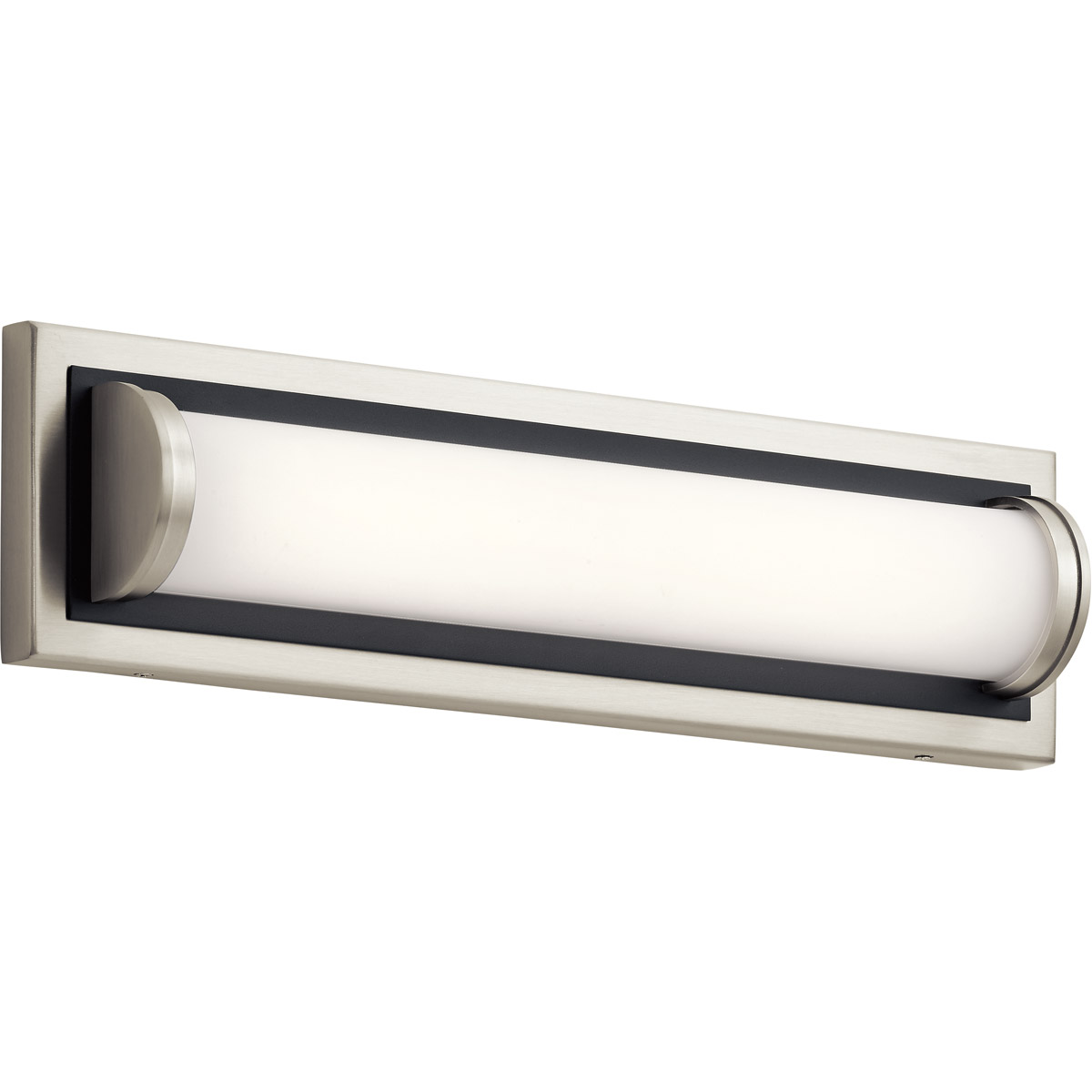 Black Finish Bathroom Lighting: Bathroom Vanity 1 Light With Brushed Nickel With Black