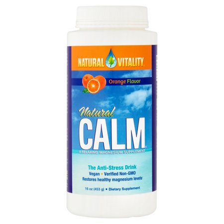 Natural Vitality Natural Calm Orange Flavor The Anti Stress Drink  16 Oz