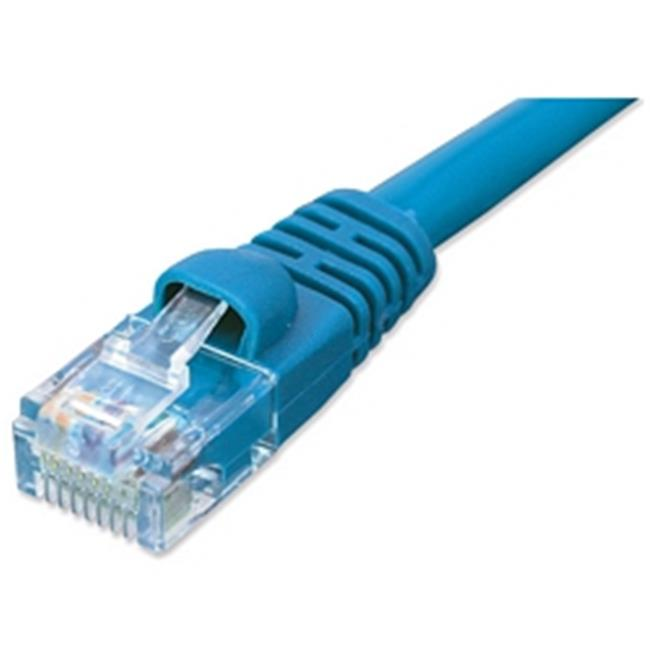 Ziotek 119 5330 CAT5e Enhanced Patch Cable, with Boot 10ft, Blue