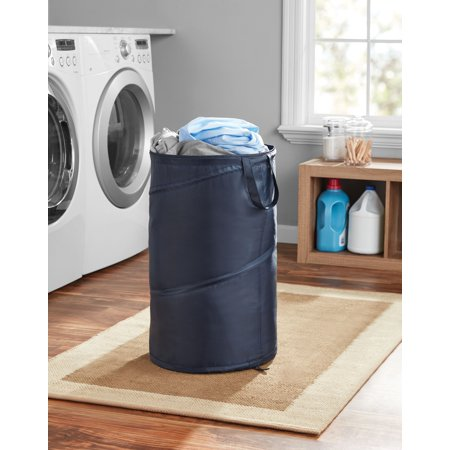 Mainstays Spiral Pop Up Hamper Blue