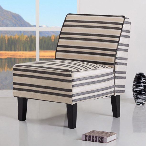 Gold Sparrow Plano Striped Accent Chair Walmart Com