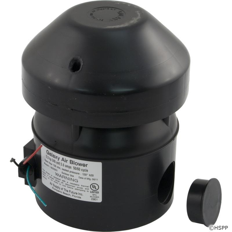 Blower, Air Supply Galaxy Supreme, 2.0hp, 230v, 5.6A, Hardwire