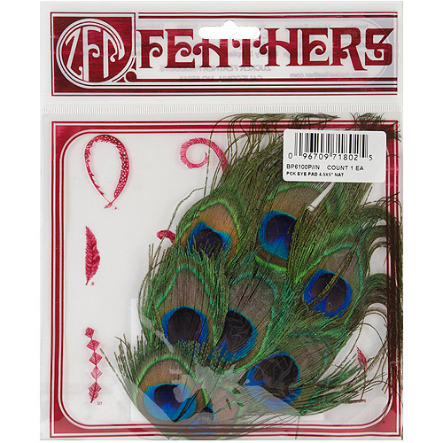 Zucker Feather Products Peacock Eye Fringe Pad