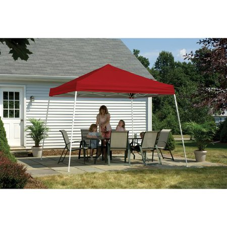 12' x 12' Sport Pop-up Canopy Slant Leg Red Cover