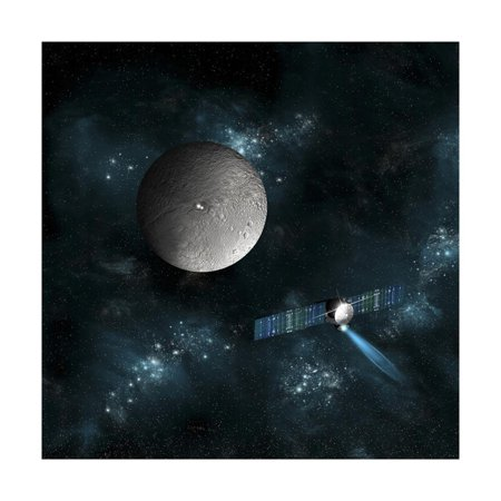 Artist's Concept of the Dawn Spacecraft as it Approaches an Encounter with Ceres Print Wall Art By Stocktrek