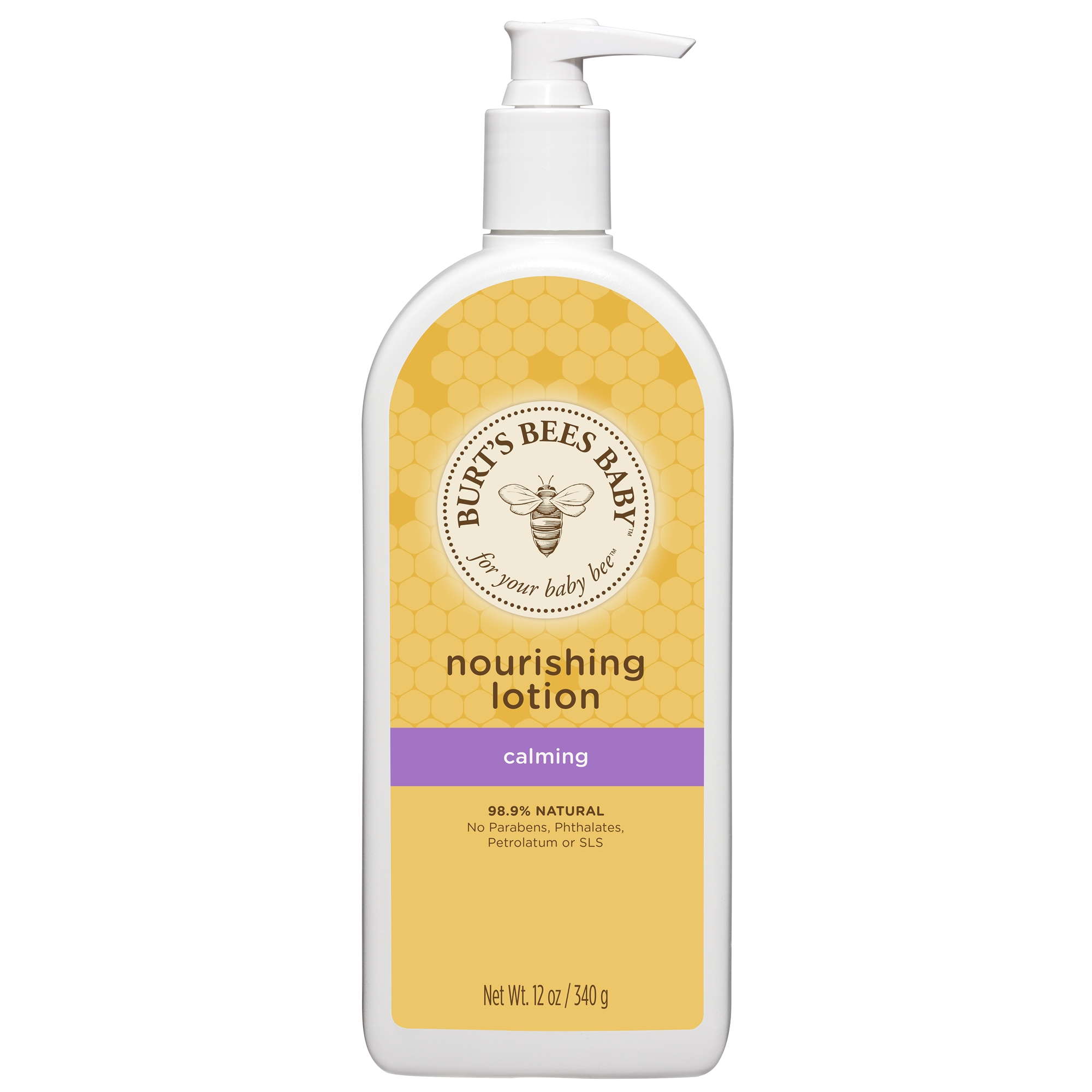 Burt's Bees Baby Nourishing Lotion, Calming Baby Lotion - 12 oz Bottle