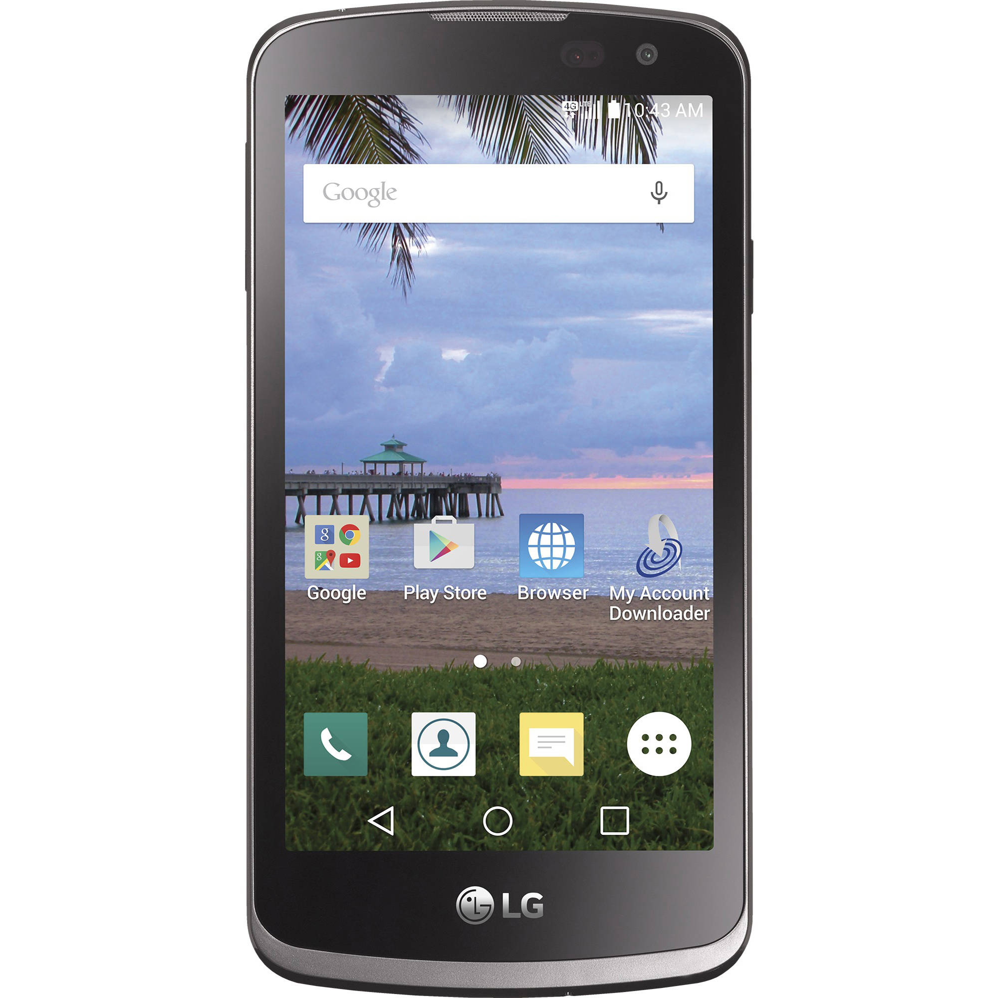 Total Wireless LG Rebel Prepaid Smartphone, Black