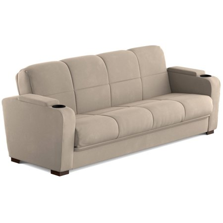 Mainstays Tyler Futon With Storage Sofa Sleeper Bed Multiple Colors Com