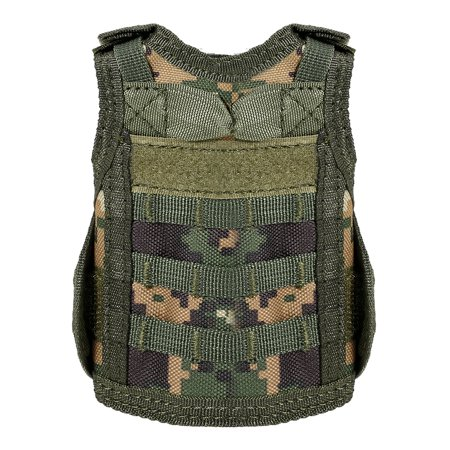 Tactical Beer Vest Military Molle Mini Miniature Beverage Bottle Can Cooler Holder Sleeve