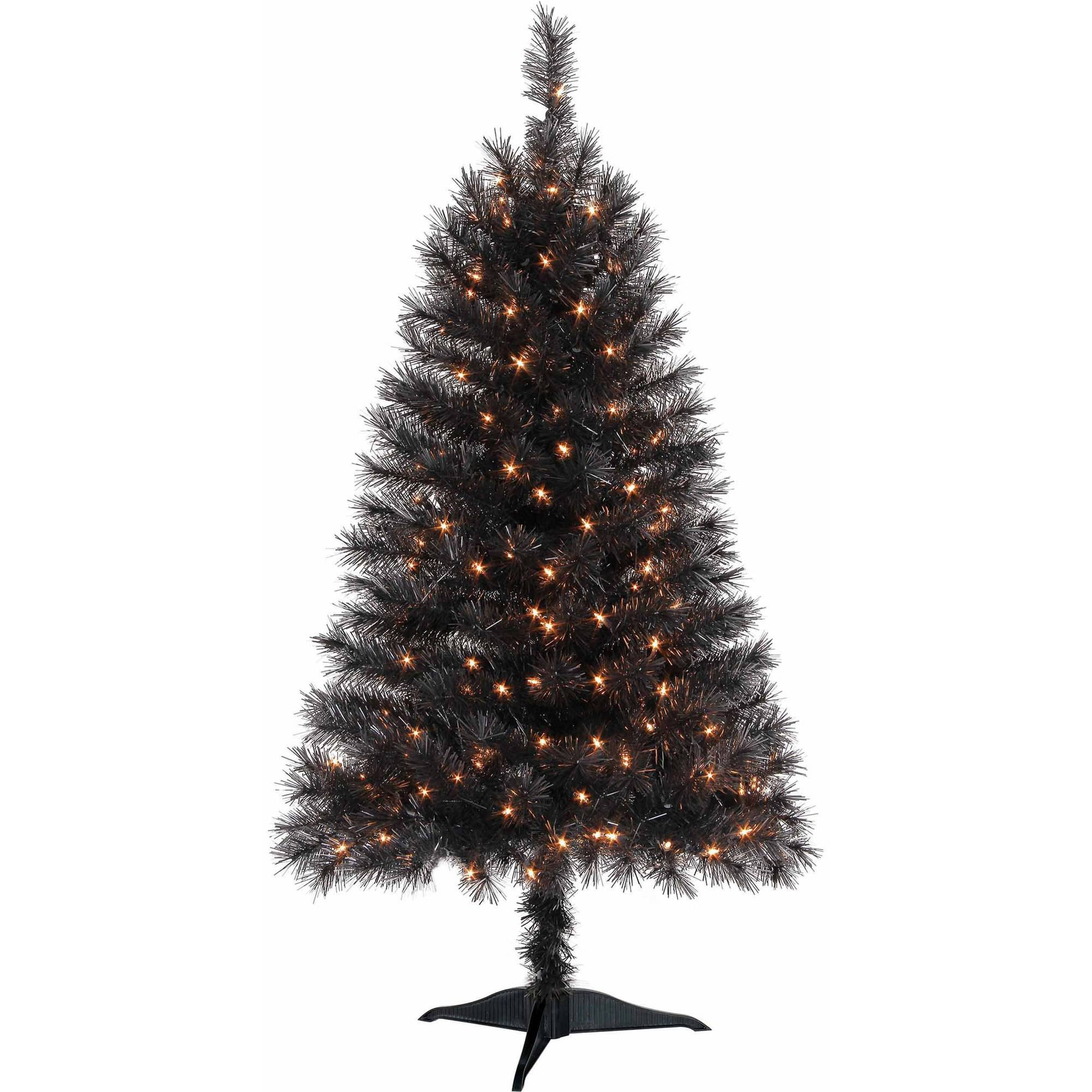 Holiday Time Pre-Lit 4\' Indiana Spruce Artificial Christmas Tree ...