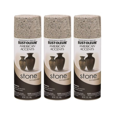 (3 Pack) Rust-Oleum American Accents Stone Pebble Textured Finish Spray Paint, 12 oz
