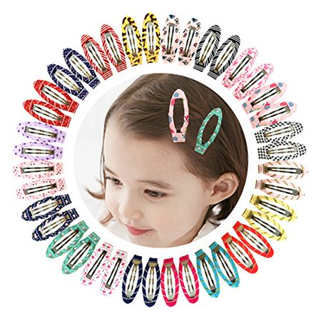 """Ruyaa 2"""" Snap Clips No Slip Wrapped Hair Barrettes for Toddlers Girls Kids Women Hair Accessories (40pcs Assorted) - image 3 of 3"""