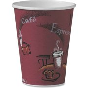 Solo Single Sided Paper Hot Cups, Maroon, 300 / Carton (Quantity)