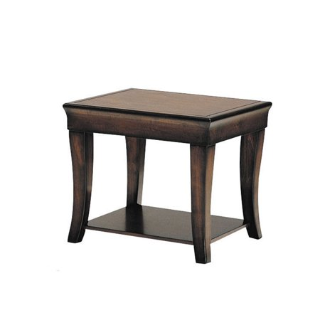 ACME Branford End Table, Cherry Cherry Square Butterfly Table