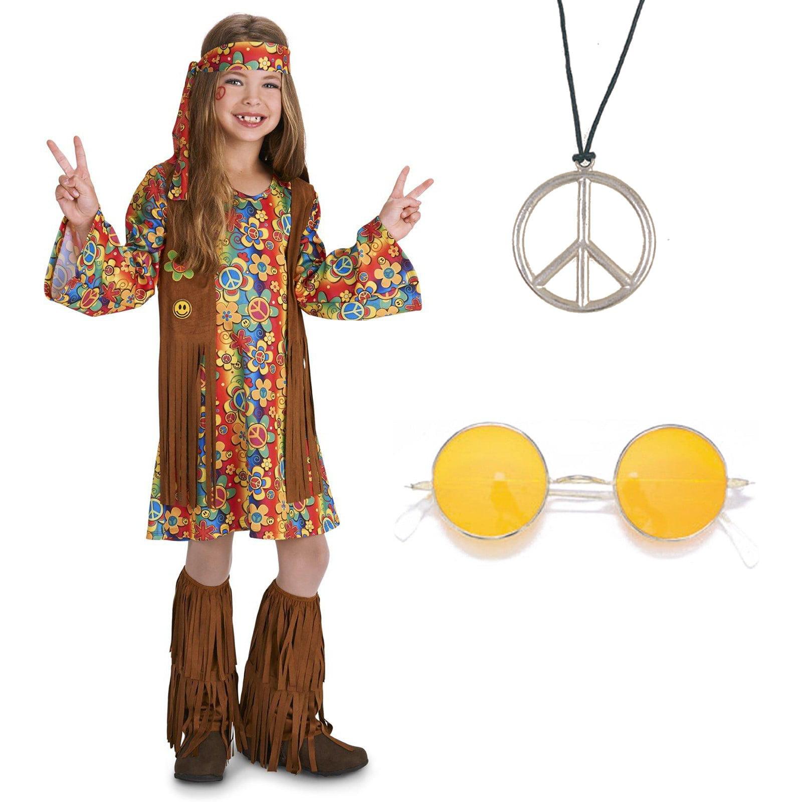 Hippie Girls Child 60S Bohemian Free Sprit Halloween Costume