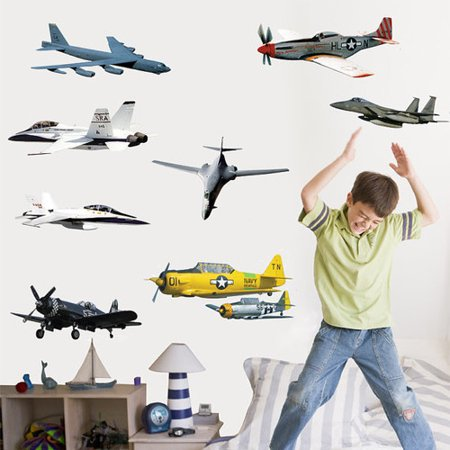 Wallhogs Military Aircraft Multi-Pack III Wall Decal