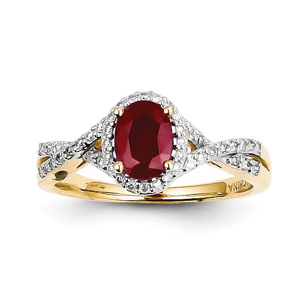 14k Diamond & Ruby Ring by Saris and Things QG