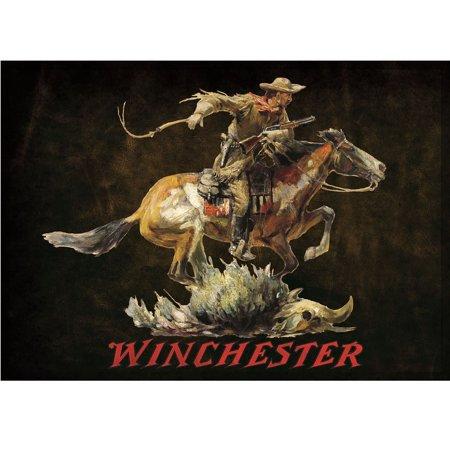 Rockin W Brand Winchester Dark Horse And Rider Area Rug