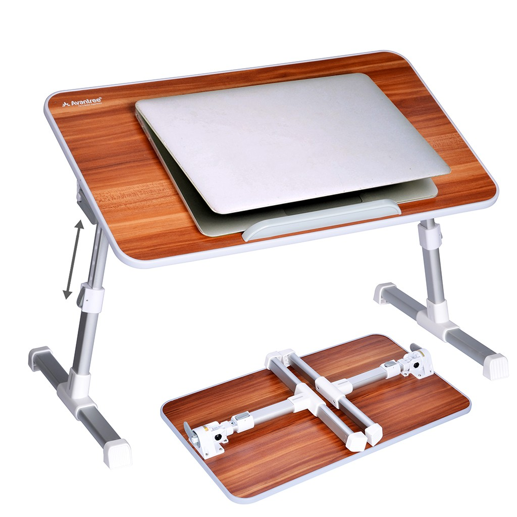 Avantree Quality Adjustable Laptop Bed Table, Portable Standing Desk,  Foldable Sofa Breakfast Tray,