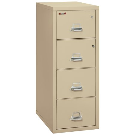 2 Hr Fireproof File (Fireking Fireproof 4-2131-CPASF Office Industrial Parchment Four Drawer Vertical Legal Size 31