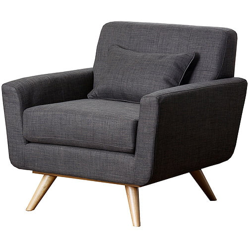 Abbyson Living Chandler Linen Fabric Tufted Armchair by Abbyson Living