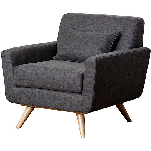 Abbyson Living Chandler Linen Fabric Tufted Armchair