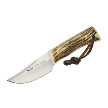 Muela Knives Kmor8a Orix Skinner Fixed Blade Knife With Genuine Stag Handles Multi Colored