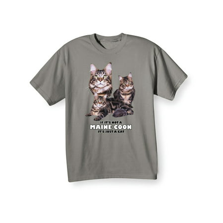 WHAT ON EARTH Unisex Adult Fun Cat Breed Shirt - Maine Coon - T-Shirt
