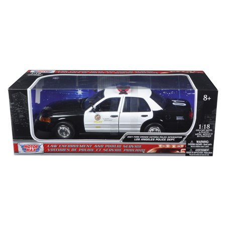 2001 Ford Crown Victoria Los Angeles Police Department LAPD Car 1/18 Diecast Car Model by Motormax