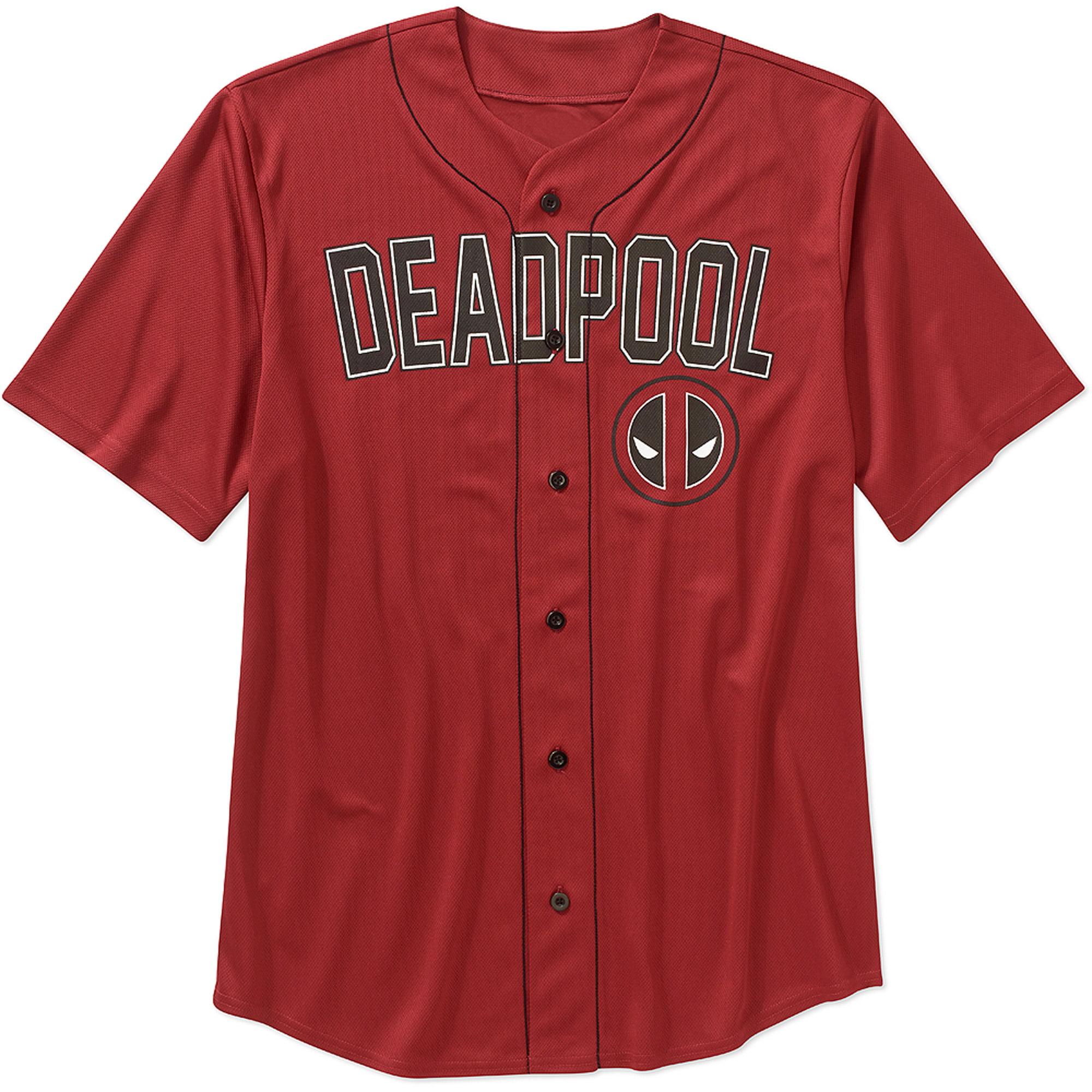 separation shoes d62b0 dc90c License Deadpool Big Men's Baseball Jersey - Walmart.com