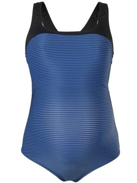 Cache Coeur Womens Yana One Piece Maternity Bathing Suit, XL, Blue