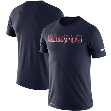 Nike Baseball Fan Gear - New England Patriots Nike Fan Gear Mezzo Tear Performance T-Shirt - Navy