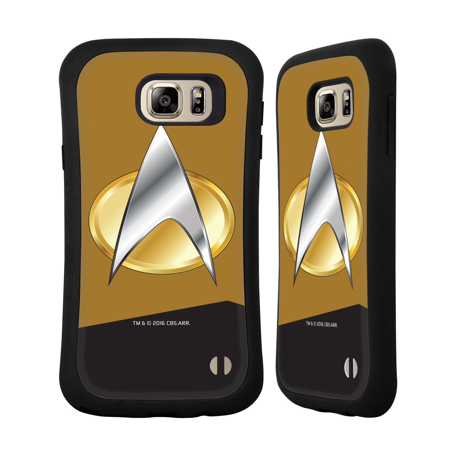 OFFICIAL STAR TREK UNIFORMS AND BADGES TNG HYBRID CASE FOR SAMSUNG PHONES