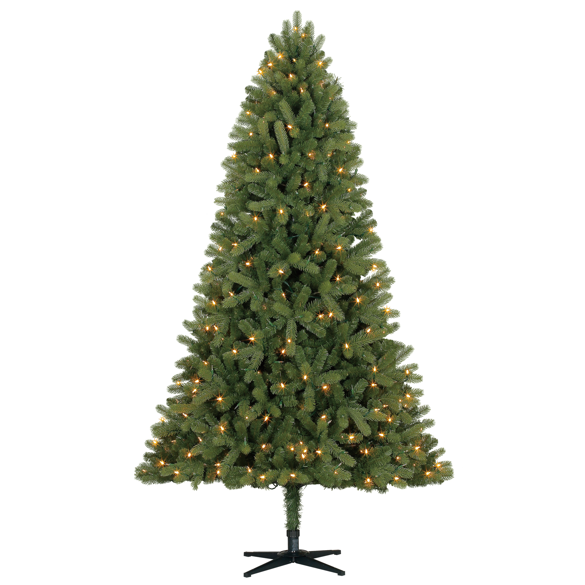 Holiday Time 7.5ft Pre-Lit Whitefield Fir Artificial Christmas Tree with 480 LED Color Show Lights - Green