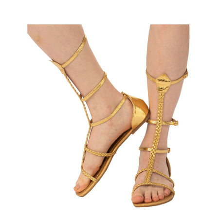 Womens Cleopatra Sandal Halloween Costume Accessory - Cleopatra Adult Halloween Costume